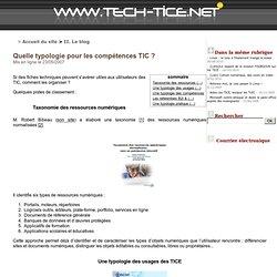 Quelle typologie pour les compétences TIC?