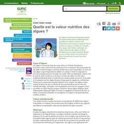 Quelle est la valeur nutritive des algues