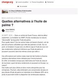 Quelles alternatives à l'huile de palme ?