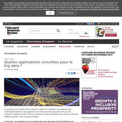 Quelles applications concrètes pour le Big Data?