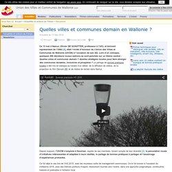 Actu: Quelles villes et communes demain en Wallonie ? (05-2016)