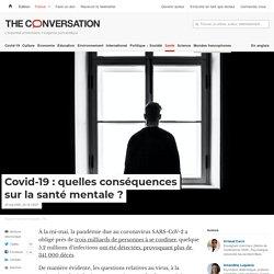 Covid-19: quelles conséquences surlasanté mentale?