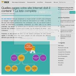 Quelles pages doit contenir votre site Internet ?