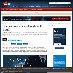 Quelles données mettre dans le cloud ? - ZDNet