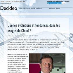 Quelles évolutions et tendances dans les usages du Cloud ?
