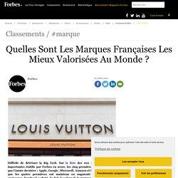 Quelles Sont Les Marques Françaises Les Mieux Valorisées Au Monde