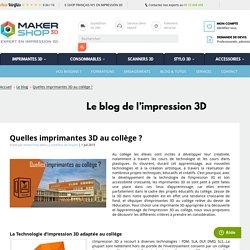 Quelles imprimantes 3D au collège ?