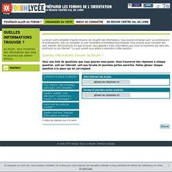 Quelles informations trouver ? - Centre-Val de Loire