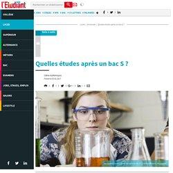 Quelles études après un bac S ? - Letudiant.fr - L'Etudiant
