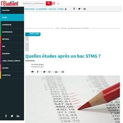 Quelles études après un bac STMG ? - Letudiant.fr - L'Etudiant