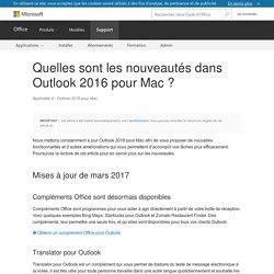 Quelles sont les nouveautés dans Outlook 2016 pour Mac? - Outlook for Mac
