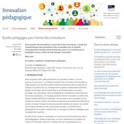 Quelles pédagogies pour former des innovateurs