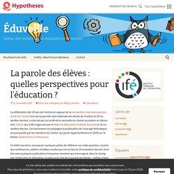 La parole des élèves : quelles perspectives pour l'éducation ?