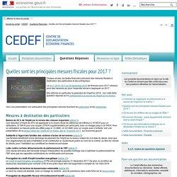 CEDEF - Quelles sont les principales mesures fiscales pour 2017 ?