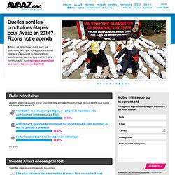 Prochaines étapes pour Avaaz en 2014?