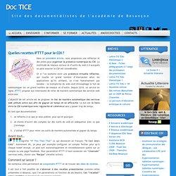 Quelles recettes IFTTT pour le CDI ?