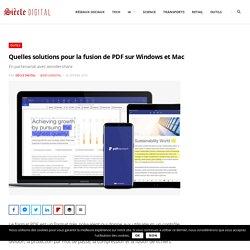 Quelles solutions pour la fusion de PDF sur Windows et Mac