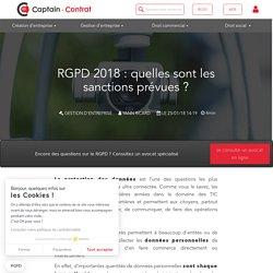 Quelles sont les sanctions en cas de non-respect du RGPD ?
