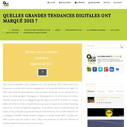 Grandes tendances digitales 2013