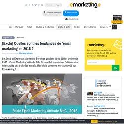 Quelles sont les tendances de l'email marketing en 2015 ?