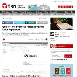 Quelloffene Evernote-Alternative: Das kann Paperwork
