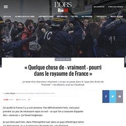 «Quelque chose de – vraiment – pourri dans le royaume de France»