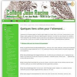 Quelques liens utiles pour l'allemand... - Collège Jean Racine