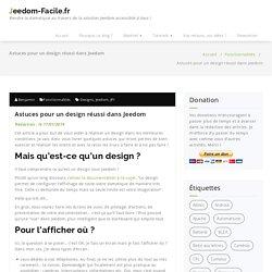 Quelques astuces pour réaliser un design sous Jeedom