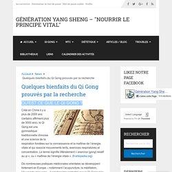 Quelques bienfaits du Qi Gong prouvés par la recherche