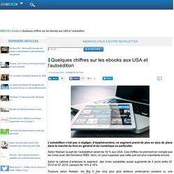 Quelques chiffres sur les ebooks aux USA et l'autoédition