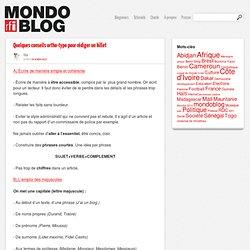 Quelques conseils ortho-typo pour rédiger un billet - Mondoblog