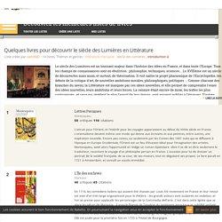 Quelques livres pour découvrir le siècle des Lumières en Littérature - Liste de 14 livres - Babelio