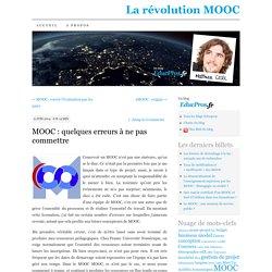 MOOC : quelques erreurs à ne pas commettre
