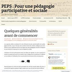 Créer et publier ses capsules vidéos | PEPS : Pour une pédagogie participative et sociale