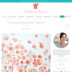 """Quelques Sakura pour """"Hanami"""" - Papier Japonais Adeline Klam créations"""