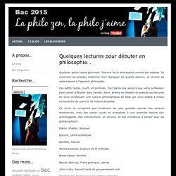 bac philo 2015 » Blog Archive » Quelques lectures pour débuter en philosophie…