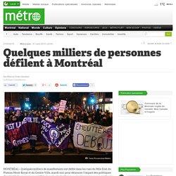 Quelques milliers de personnes défilent à Montréal