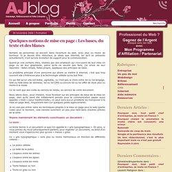 Quelques notions de mise en page : Les bases, du texte et des blancs