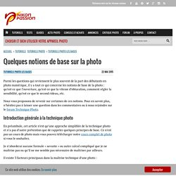 Quelques notions de base sur la photo - nikonpassion.com