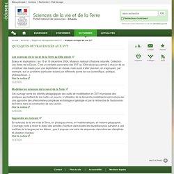 Quelques ouvrages liés aux SVT-Sciences de la vie et de la Terre-Éduscol