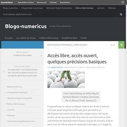 Accès libre, accès ouvert, quelques précisions basiques – Blogo-numericus