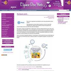 Quelques prezi... - Espace Doc Web