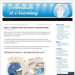 itypa 3 – quelques leçons de la semaine 1 (première partie)