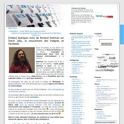 Richard Stallman sur Steve Jobs, les indignés et Facebook