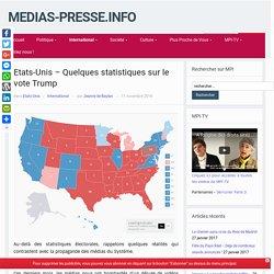Etats-Unis – Quelques statistiques sur le vote Trump – medias-presse.info