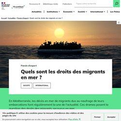 Quels sont les droits des migrants en mer ?