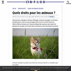 Quels droits pour les animaux ?