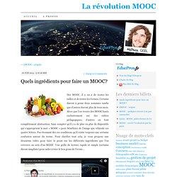 MOOC : quelques ingrédients, une infinité de recettes