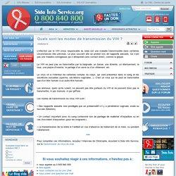 [Sida Info Service] Quels sont les modes de transmission du VIH ?