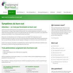 Quels sont les symptômes du burn-out?